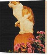 King Of The Pumpkin Wood Print