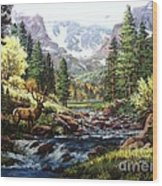 King Of The Valley Wood Print by W  Scott Fenton
