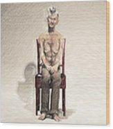 King Wood Print by Taylan Apukovska