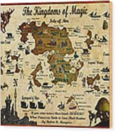 Kingdoms Of Magic Battle Map Wood Print