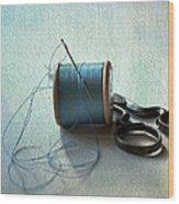 Kingfisher Blue Wood Print