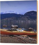Kings Beach - Okanagan Lake - Kayaking Wood Print