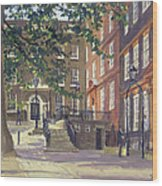Kings Bench Walk, Inner Temple Oil On Canvas Wood Print