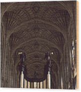 King's College Chapel Wood Print