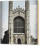 King's College Chapel - Poster Wood Print