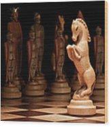 King's Court II Wood Print by Tom Mc Nemar