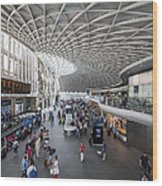 Kings Cross Station Wood Print