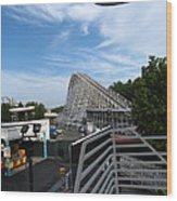 Kings Dominion - 12123 Wood Print by DC Photographer
