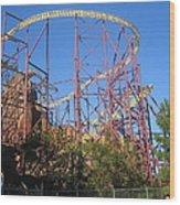Kings Dominion - Volcano - 01133 Wood Print