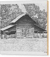 King's Mountain Barn Wood Print