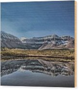Kings Peak And The Pond Sinister Wood Print