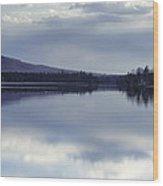 Kingsbury Pond Maine - April Wood Print
