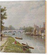 Kingston On Thames Wood Print by Robert Finlay McIntyre