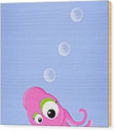 Kiniart Octopus Wood Print