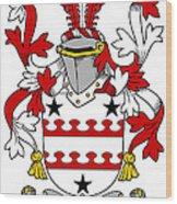 Kinnane Coat Of Arms Irish Wood Print