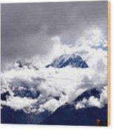 Kinner Kailash Hills- Himachal Pradesh- Viator's Agonism Wood Print by Vijinder Singh