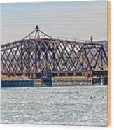 Kinnickinnic River Swing Bridge Wood Print