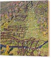Kinzua Bridge Collapse Wood Print