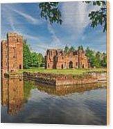 Kirby Muxloe Castle Wood Print