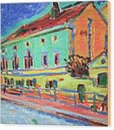 Kirchner's Houses In Dresden Wood Print
