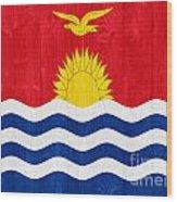 Kiribati Flag Wood Print