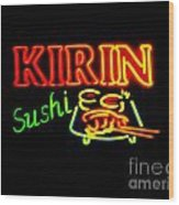 Kirin Sushi 2 Wood Print