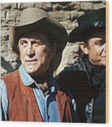 Kirk Douglas Johnny Cash A Gunfight  Old Tucson Arizona 1971 Wood Print