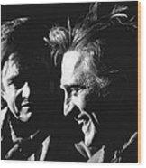 Kirk Douglas Laughing Johnny Cash Old Tucson Arizona 1971 Wood Print