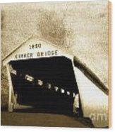 Kirker Covered Bridge  35-01-10 Wood Print