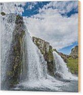 Kirkjufellsfoss Waterfalls, Church Wood Print