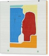 Kiss Wood Print