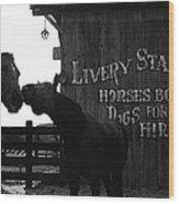 Kissing Horses Joe Kidd Set Old Tucson Arizona 1972 Wood Print
