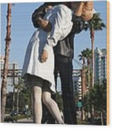 Kissing Sailor - The Kiss - Sarasota Wood Print