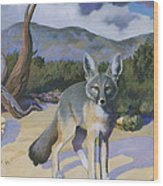 Kit Fox Wood Print
