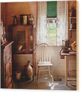 Kitchen - A Cottage Kitchen  Wood Print