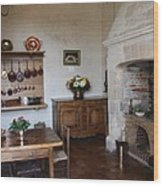 Kitchen At Chateau Villandry  Wood Print