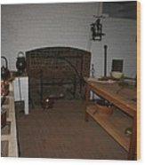 Kitchen At Monticello Wood Print