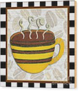 Kitchen Cuisine Hot Cuppa No14 By Romi And Megan Wood Print