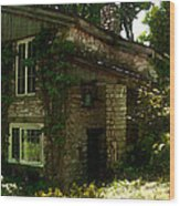 Kitchen Entrance To The Lodge At The Clearing In Door County Wisconsin Wood Print