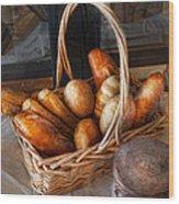 Kitchen - Food - Bread - Fresh Bread  Wood Print by Mike Savad