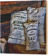 Kitchen - Food - Sugar And Salt Wood Print