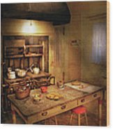 Kitchen - Granny's Stove Wood Print by Mike Savad