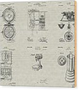 Kitchen Household Patent Collection Wood Print