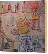 Kitchen In Nashville Wood Print by Lucille Femine