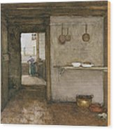 Kitchen Interior, C.1899 Wood Print