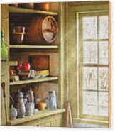 Kitchen - Kitchen Necessities Wood Print by Mike Savad