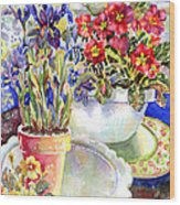 Kitchen Primrose Wood Print