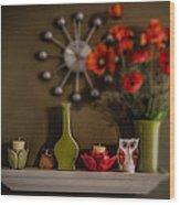 Kitchen Shelf  Wood Print