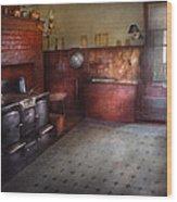 Kitchen - Storybook Cottage Kitchen Wood Print