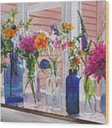 Kitchen Window Sill Wood Print by Karol Wyckoff